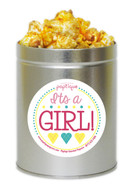 It's A Girl!  1 Quart Popcorn Tin