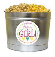 It's A Girl! 2 Gallon Popcorn Tin