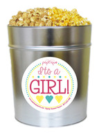 It's A Girl! 3.5 Gallon Popcorn Tin