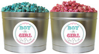 Gender Reveal Party 2 Gallon Popcorn Tin