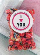 Strawberry Truffle Valentines Popcorn Snack Bag