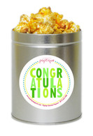 Green Congratulations 1 Quart Popcorn Tin