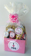 I Love You - Pink Valentines Gift Basket
