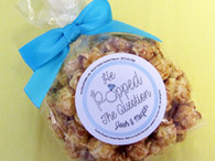 """He Popped the Question"" Bowtie Bag Personalized Engagement Popcorn Favors"