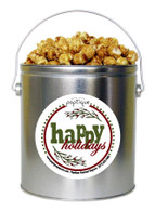 Happy Holidays  1 Gallon Popcorn Holiday Gift Tin
