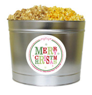 Merry Christmas 2 Gallon Popcorn Holiday Gift Tin