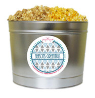 Seasons Greetings  2 Gallon Popcorn Holiday Gift Tin