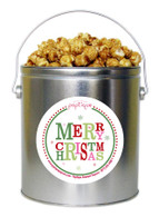 Merry Christmas  1 Gallon Popcorn Holiday Gift Tin