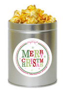 Merry Christmas  1 Quart Popcorn Holiday Gift Tin
