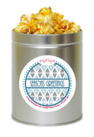 Seasons Greetings 1 Quart Popcorn Holiday Gift Tin