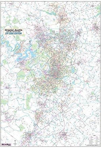 San Antonio Greater Bexar County Laminated Wall Map LARGE 48x61