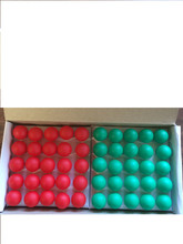 BOX OF 25 EACH RED AND GREEN 18 VOLT LARGE GLOBE