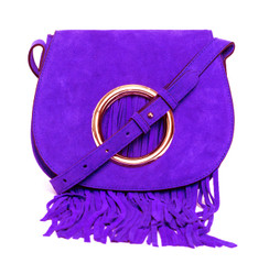 Fringed Crossbody with Adjustable Strap