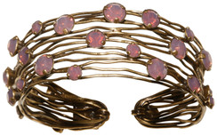 Caged Pink Opal Cuff