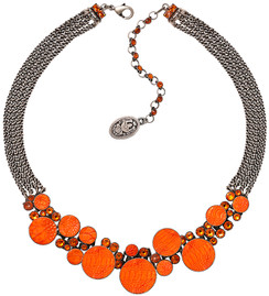 Planet River Orange Necklace
