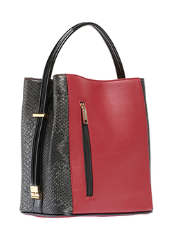 Red/Black Snakeskin Handbag