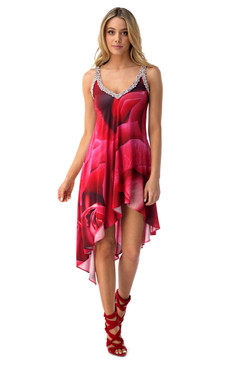 Floral Print Assymetric Dress