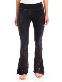 Black Lace Block Yoga Pants