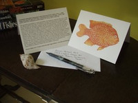Garibaldi (Hypsypops rubicundus) Notecards