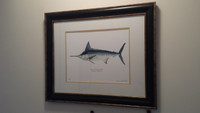 WYSIWYG Framed Limited Edition Striped Marlin Giclee Print