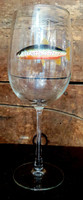 Brown Trout Handpainted Wine Glass