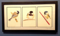 Black-capped Chickadee Triptych