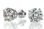 Comparable in size to 1.00cttw diamond stud earrings.