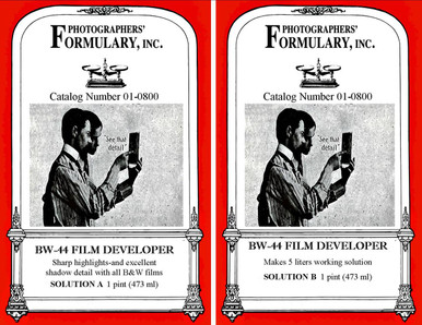 BW-44 Liquid Film Developer Front Labels