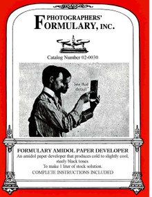 Amidol Paper Developer Front Label
