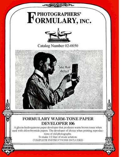 106 Paper Developer Front Label