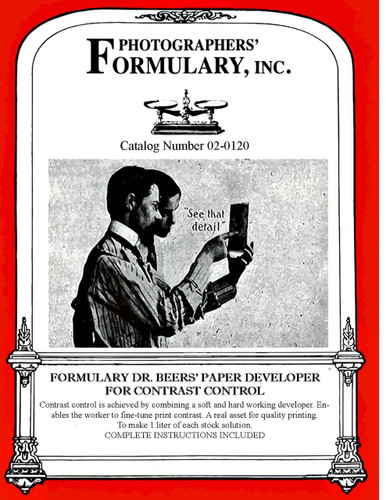 Dr. Beer's Paper Developer Front Label