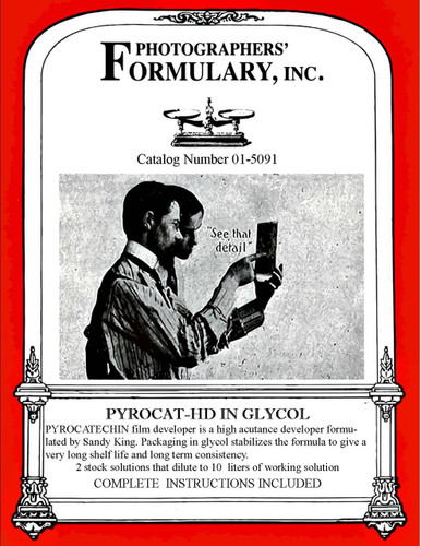 Pyrocat HD In Glycol Front Label