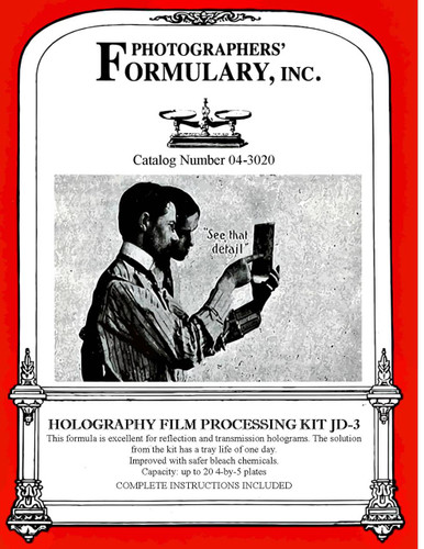 JD-3 Holography Developer Front Label