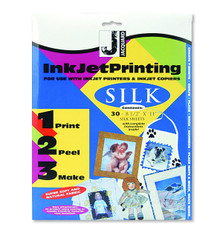 Jacquard Inkjet Print on Silk Available in sheets or a roll