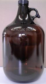 1 Gallon Amber Glass Jug