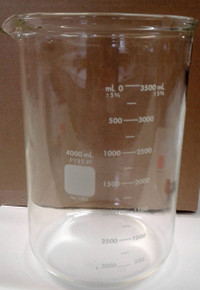 4000 ml Heavy Duty Glass Beaker