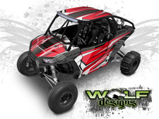 Red and White Polaris XP1K UTV Wrap Kit