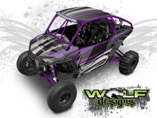 Purple Polaris XP1K UTV Wrap Kit