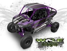 Purple Polaris XP1K UTV Wrap Kit
