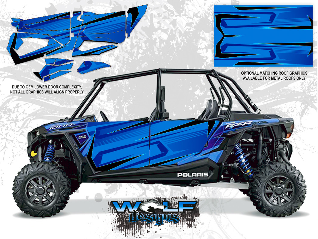 Polaris RZR XP4 1000 - Voodoo Blue Door Kit