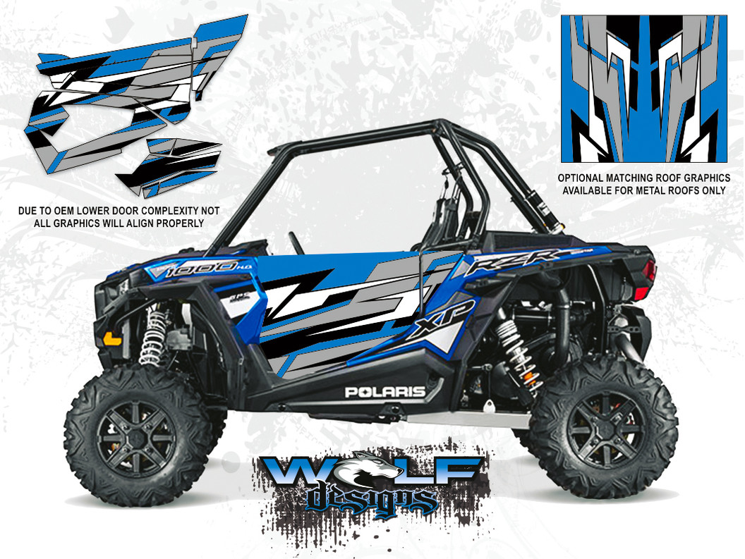 Polaris RZR XP 1000 - Electric Blue Door Kit