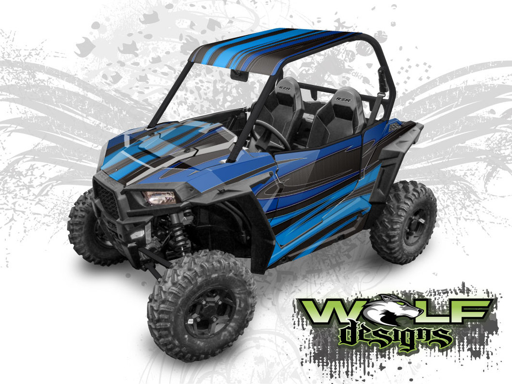 Polaris RZR S UTV graphics wrap kit