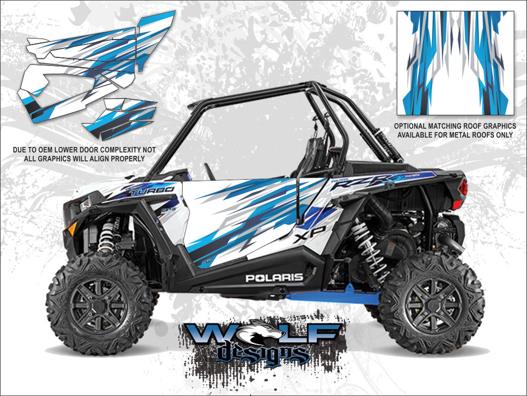Polaris RZR XP Turbo - Matte White Lightning Door Kit