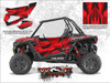 Polaris RZR XP Turbo - Matte Sunset Red Door Kit