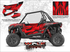 Polaris RZR XP Turbo - Matte Sunset Red Door Kit