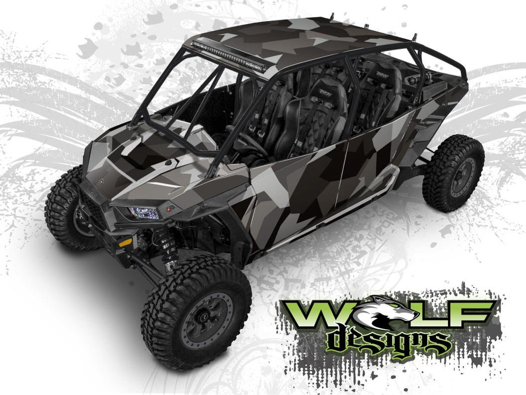 Urban Jagged Camo - Polaris RZR XP4 1000 and Turbo Graphics Wrap Kit