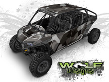 Urban Jagged Camo - Polaris RZR XP4 1000 and Turbo Graphics Wrap Kit