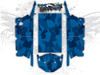 Blue Urban Jagged Camo - Polaris RZR XP4 1000 and Turbo Graphics Wrap Kit