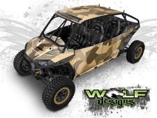 Tan Urban Jagged Camo - Polaris RZR XP4 1000 and Turbo Graphics Wrap Kit