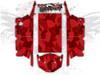 Red Urban Jagged Camo - Polaris RZR XP4 1000 and Turbo Graphics Wrap Kit